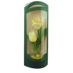Коробка зеленая, для цветов, арт.40027