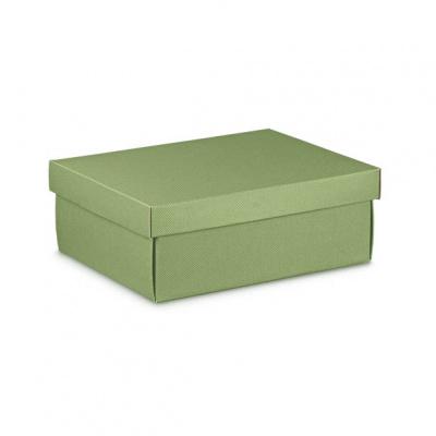 Коробка оливковая, с крышкой, арт.34544