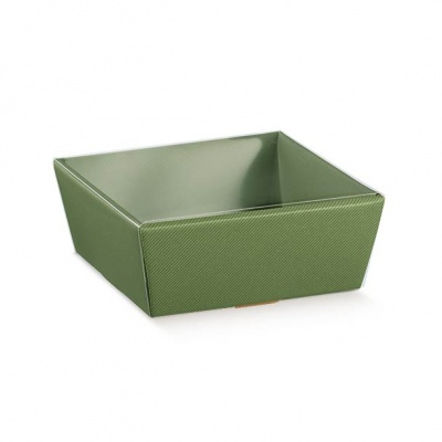 Коробка оливковая, лукошко, арт.36258
