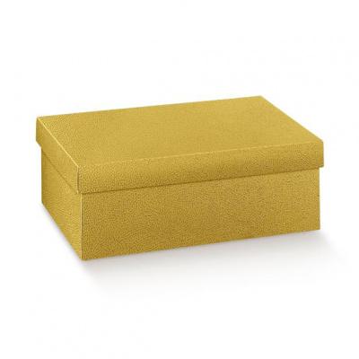 Коробка золотая, с крышкой, арт.33543