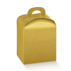 Коробка золотая, панеттон, арт.33559