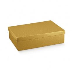 Коробка жемчужно-золотая, с крышкой, арт.36614
