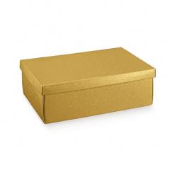 Коробка жемчужно-золотая, с крышкой, арт. 36618