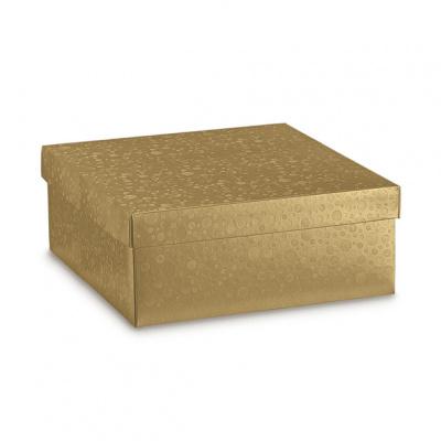 Коробка жемчужно-золотая, с крышкой, арт.36619