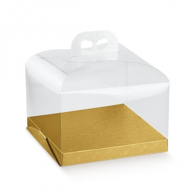 Коробка жемчужно-золотая, панеттон, арт.36634