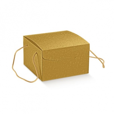 Коробка жемчужно-золотая, сундук, арт.36654
