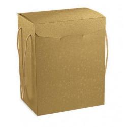 Коробка жемчужно-золотая, чемодан, арт.36655
