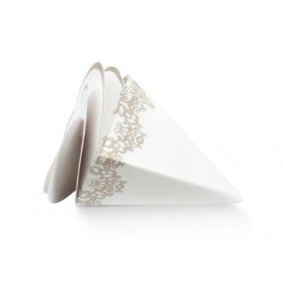 Коробка белая с рисунком, бонбоньерка , арт.17061