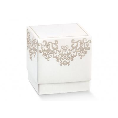 Коробка белая, кубик, арт.17063