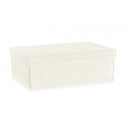 Коробка белая, с крышкой, арт.17683