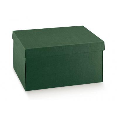 Коробка зеленая, с крышкой, арт.30535