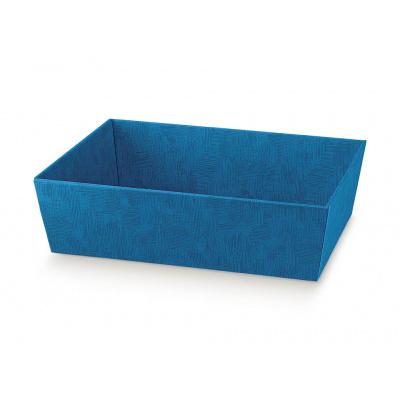 Коробка светло-синяя, лукошко, арт.34260