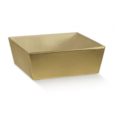 Коробка золотая, лукошко, арт.34795