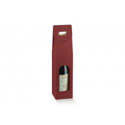 Коробка бордовая, на 1 бутылку, арт.35348