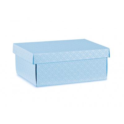 Коробка голубая, с крышкой, арт.37452