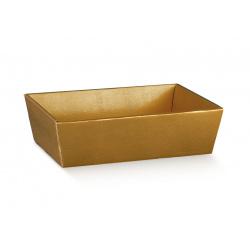 Коробка золотая, лукошко, арт.38464