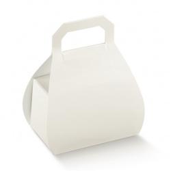 Коробка белая сумочка, бонбоньерка , арт.9646