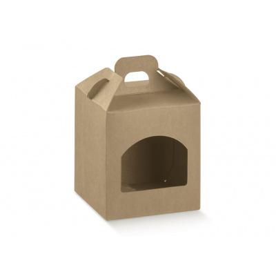 Коробка крафт, сундучок с окном, арт.35915