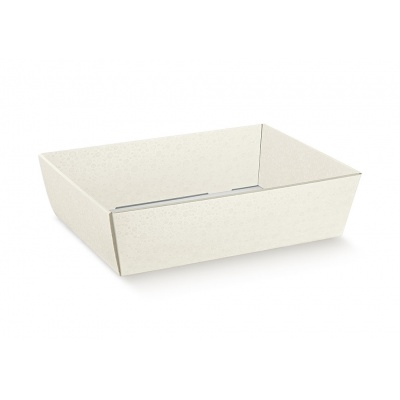 Коробка жемчужно-белая, лукошко, арт.36502