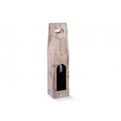 Коробка древесная, на 1 бутылку, арт.36820