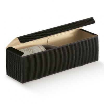 Коробка черная, на 1 бутылку, арт.37014