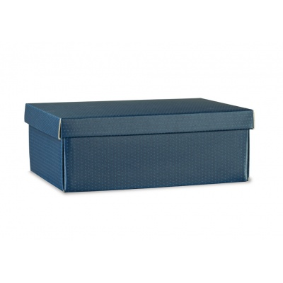 Коробка синяя, с крышкой, арт.38490