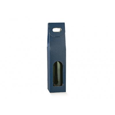 Коробка синяя, на 1 бутылку, арт.38500