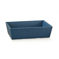 Коробка светло-синяя, лукошко, арт.38515