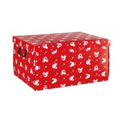 Коробка для хранения игрушек красная, с крышкой, арт. 68013R