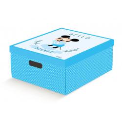 Коробка для хранения игрушек голубая, арт. 68107R