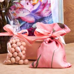 «Цветы на розовом» - подарочный набор
