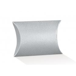Коробка серебряная, подушка, арт.38763