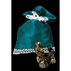 Мешочек зеленый атласный