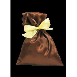 Мешочек коричневый атласный