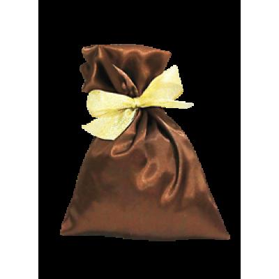 Коричневый атласный мешочек