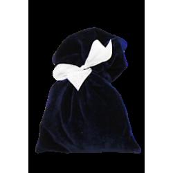 Мешочек синий бархатный