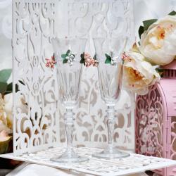 Свадебные бокалы «Бутоны роз»