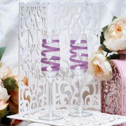 Свадебные бокалы «Лаванда»