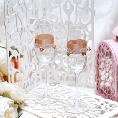 Свадебные бокалы «Кремовая фантазия»