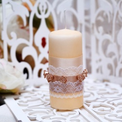 Свадебная свеча «Кремовая фантазия»