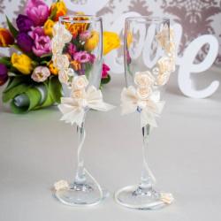 Свадебные бокалы «Счастье»