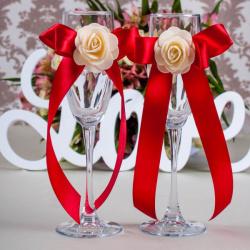 Свадебные бокалы «Бордо»