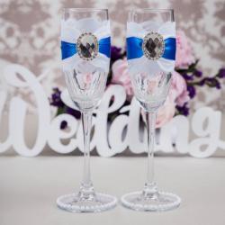 Свадебные бокалы «Лазурь»