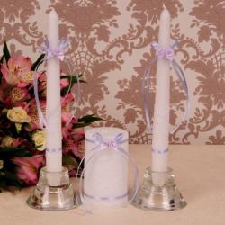 Свадебные свечи «Сирень»